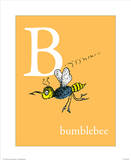 B is for Bumblebee (orange) Print by Theodor (Dr. Seuss) Geisel