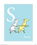 S is for Sheep (blue) Posters av Theodor (Dr. Seuss) Geisel