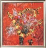 Fleurs Sur Fond Rouge, c.1970 Poster by Marc Chagall