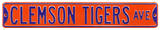 Clemson Tigers Ave Steel Sign Wall Sign