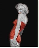 Lady In Red I Stretched Canvas Print