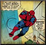 Marvel Comics Retro: The Amazing Spider-Man Comic Panel (Retro-Look) Druck aufgezogen auf Holzplatte