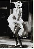 The Seven Year Itch Stretched Canvas Print by  The Chelsea Collection