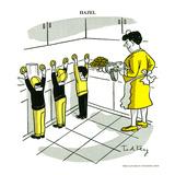 Hazel Cartoon Kunstdruck von Ted Key