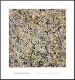No. 4, 1949 Druck aufgezogen auf Holzplatte von Jackson Pollock