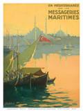 Istambul Messageries Maritimes c.1925 Poster von Gilbert Galland