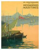Istambul Messageries Maritimes c.1925 Giclée-Druck von Gilbert Galland
