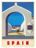 Turistplakat fra Spanien, ca. 1950'erne, på engelsk Poster af Guy Georget