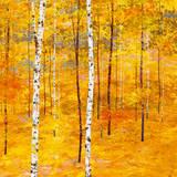Iridescent Trees V Lámina por Alex Jawdokimov