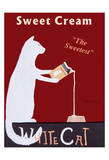 White Cat Cream Limited Edition by Ken Bailey