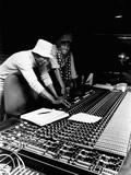 Michael Jackson; Quincy Jones - 1979 Fotografie-Druck von Isaac Sutton