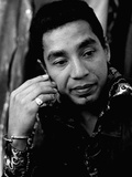 Smokey Robinson Stretched Canvas Print by Norman Hunter