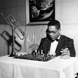 Dizzy Gillespie - 1955 Reproduction photographique par G. Marshall Wilson