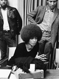Angela Davis -1972 Stretched Canvas Print by Norman Hunter