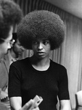 Angela Davis - 1972 Stretched Canvas Print by Norman Hunter
