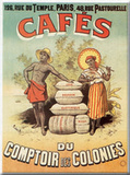 Cafés Comptoir Tin Sign