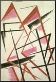 Linear Construction, c.1921 Montert trykk av Liubov Sergeevna Popova