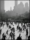 Iceskating in New York Aufgezogenes Foto