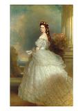 Empress Elizabeth of Austria (Sissi), 1865 Reproduction procédé giclée par Franz Xaver Winterhalter