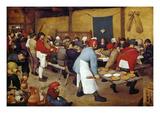 Rustic Wedding, about 1568 Giclée-Druck von Pieter Bruegel the Elder
