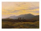 Die Ruine Eldena Im Riesengebirge, 1830/1834 Gicléedruk van Caspar David Friedrich