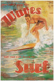 Surf Poster di Dawna Barton