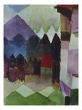 Foehn in the Garden of Franz Marc, 1915 Giclee-trykk av Paul Klee