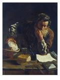 Arkimedes Giclée-tryk af Domenico Fetti