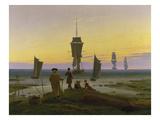 The Stages of Life, about 1834 Giclée-tryk af Caspar David Friedrich
