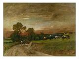 Heimkehr Im Abendrot, 1882 Giclée-tryk af Mihaly Munkacsy