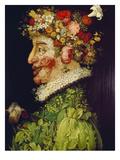 Spring, 1563 Giclée-tryk af Giuseppe Arcimboldo