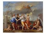 Il Ballo Della Vita Humana (A Dance to the Music of Time), 1638-1640 for Clemens Ix Stampa giclée di Nicolas Poussin