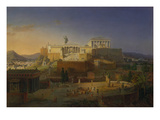 The Acropolis of Athens, 1846 Giclee Print by Leo Von Klenze