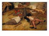 The Land of Cockayne, 1566 Reproduction procédé giclée par Pieter Bruegel the Elder