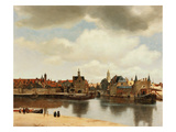 View of Delft, about 1660 Giclée-tryk af Johannes Vermeer