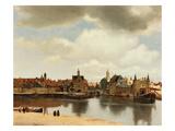 View of Delft, about 1660 Giclee-trykk av Johannes Vermeer