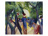 Promenade, 1913 Giclee Print by Auguste Macke