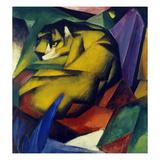 Le tigre, 1912 Reproduction procédé giclée par Franz Marc