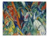 In the Rain, 1912 Giclée-tryk af Franz Marc