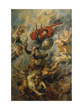 War in Heaven. Archangel Michael in the Fight Against Schismatic Angels Giclee Print by Peter Paul Rubens