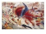 The City Rises, 1910 Impressão giclée por Umberto Boccioni