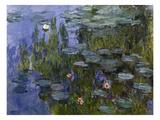 Water Lilies (Nympheas), 1918/1921 Lámina giclée por Claude Monet