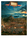 The Battle of Issus 333 B.C. (The Victory of Alexander the Great), 1529 Giclee-trykk av Albrecht Altdorfer