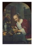 Girl Eating Oysters, about 1658-60 Giclée-Druck von Jan Havicksz. Steen