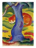 Cat Behind a Tree, 1910/11 Giclée-tryk af Franz Marc