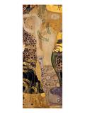 Water Snakes I., 1904-1907 Giclée-tryk af Gustav Klimt