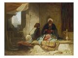 Two Turks in a Coffee House Giclée-Druck von Carl Spitzweg