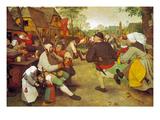 Dancing Farmers, about 1568 Giclée-Druck von Pieter Bruegel the Elder