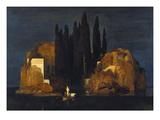The Isle of the Dead (First Version), 1880 Giclée-vedos tekijänä Arnold Bocklin