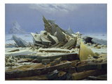 The Polar Sea (The Failed Hope), about 1823/24 Giclée-Druck von Caspar David Friedrich